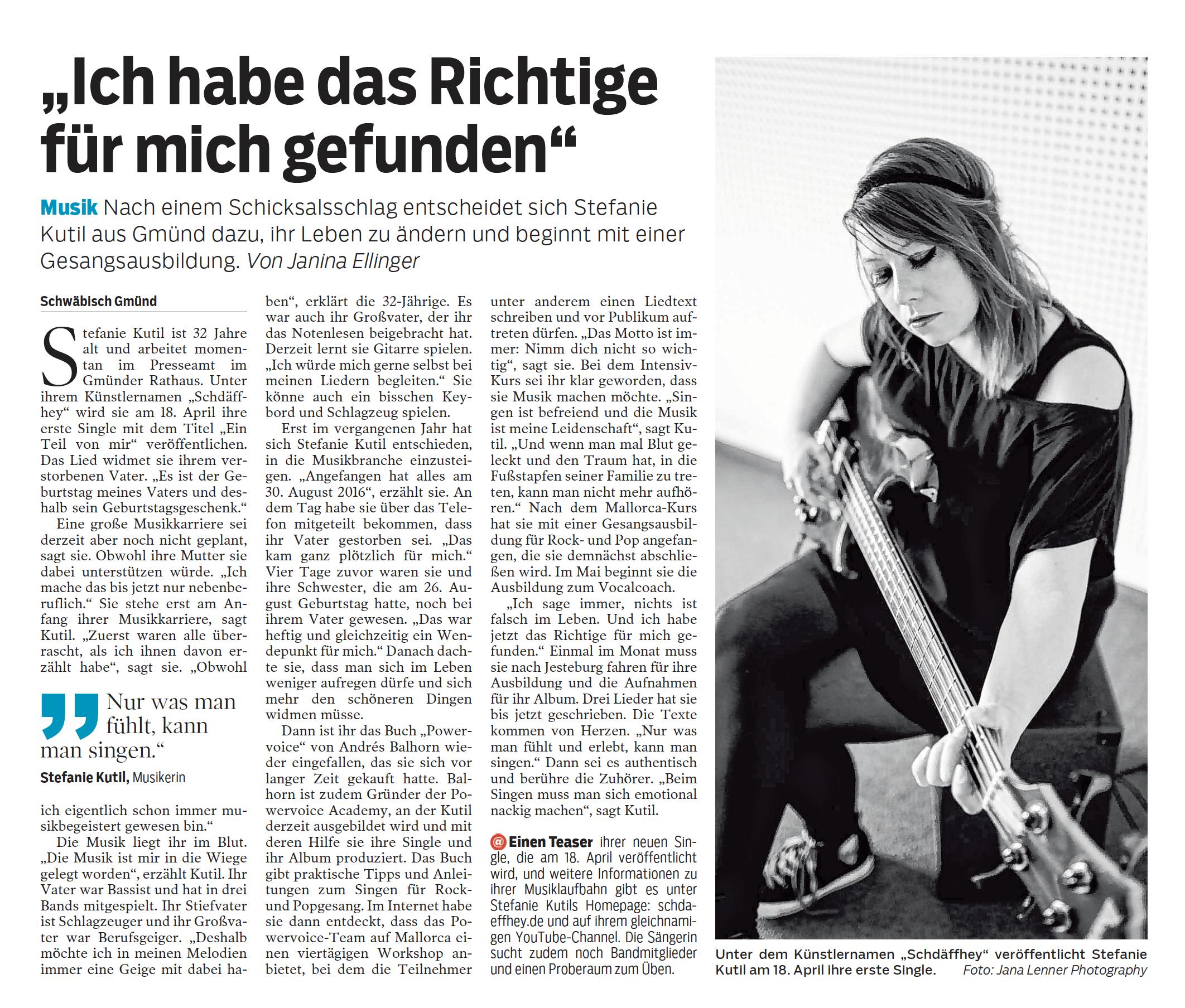 Bericht Gmünder Tagespost