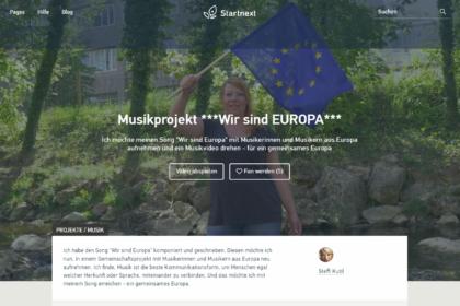 Crowdfunding wir sind europa