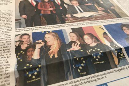 Performing Wir sind Europa