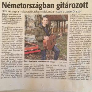Pressebericht Dániel Dékany